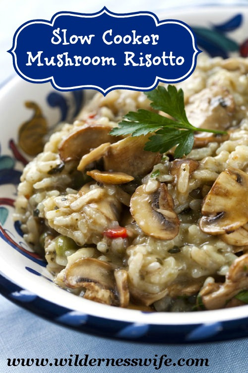 Slow Cooker Risotto  Slow Cooker Risotto Recipe The Wilderness Wife Cooking