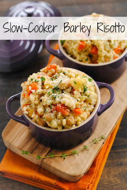 Slow Cooker Risotto  Slow Cooker Barley & Chickpea Risotto Foxes Love Lemons
