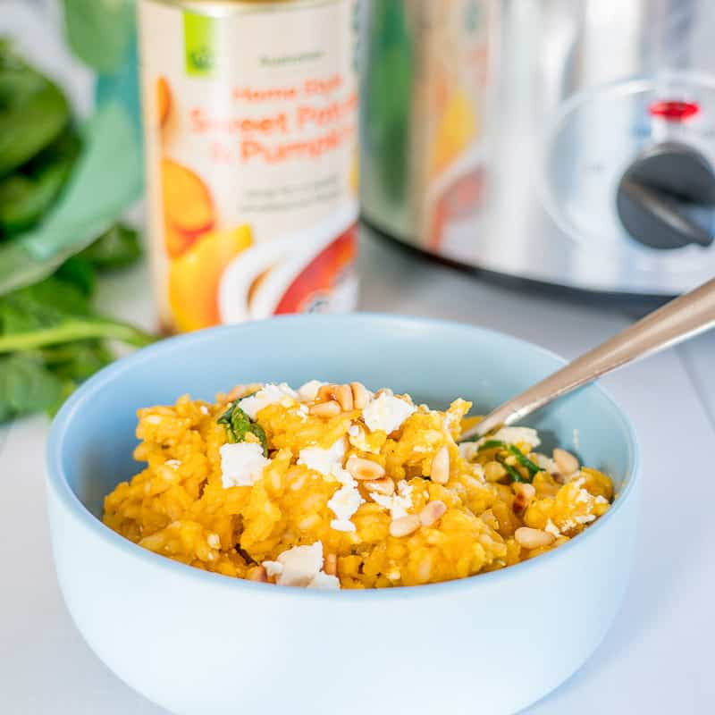 Slow Cooker Risotto  Slow Cooker Risotto Pumpkin & Feta