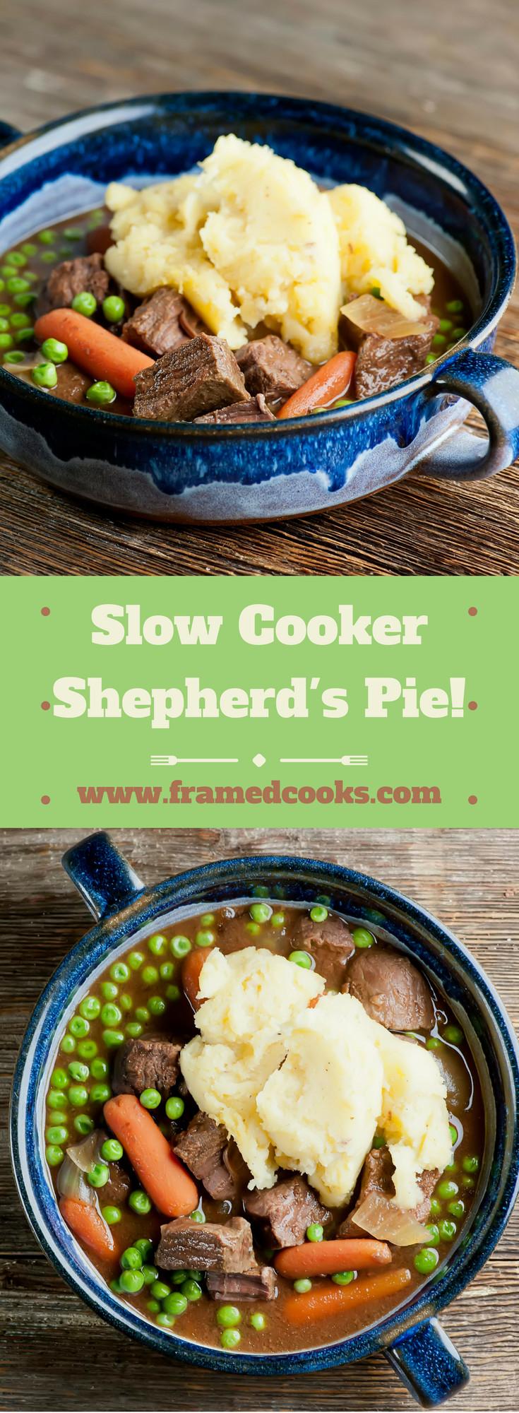 Slow Cooker Shepherd'S Pie  Slow Cooker Shepherd s Pie Framed Cooks
