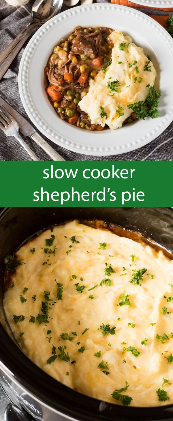 Slow Cooker Shepherd'S Pie  1353 best Tastes of Lizzy T Recipes images on Pinterest