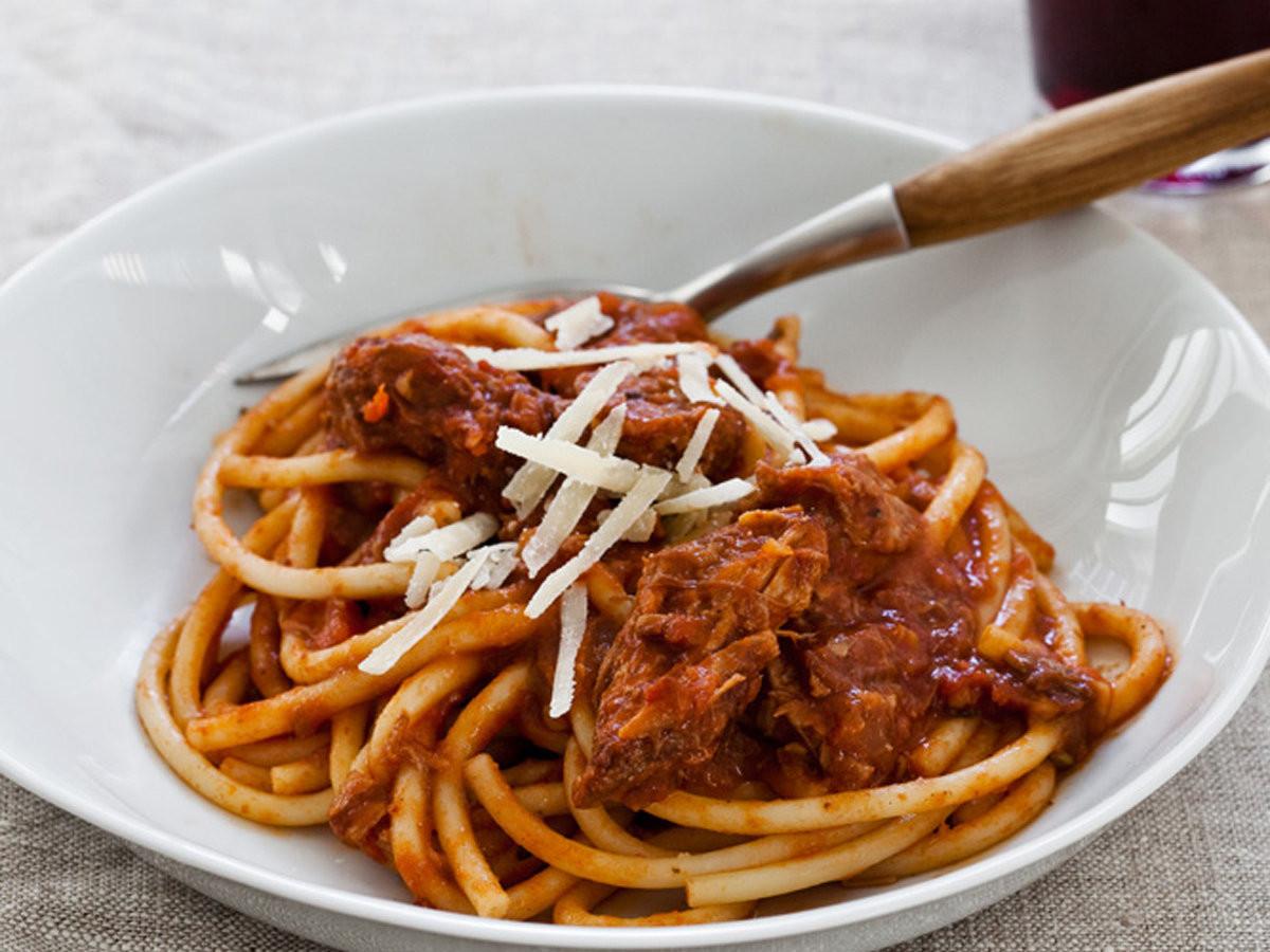 Slow Cooker Spaghetti Sauce  Slow Cooker Sunday Sauce on Spaghetti Recipe Marcia