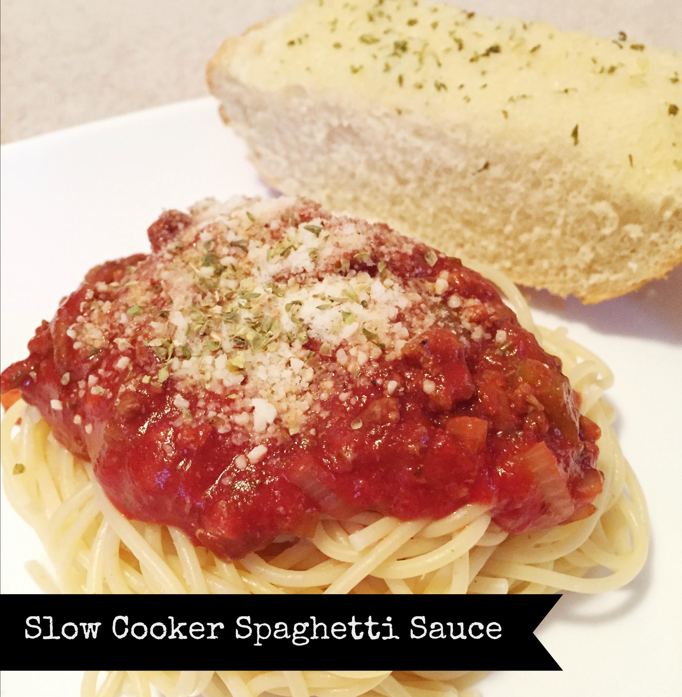 Slow Cooker Spaghetti Sauce  RECIPE Slow Cooker Spaghetti Sauce Bits of Bee
