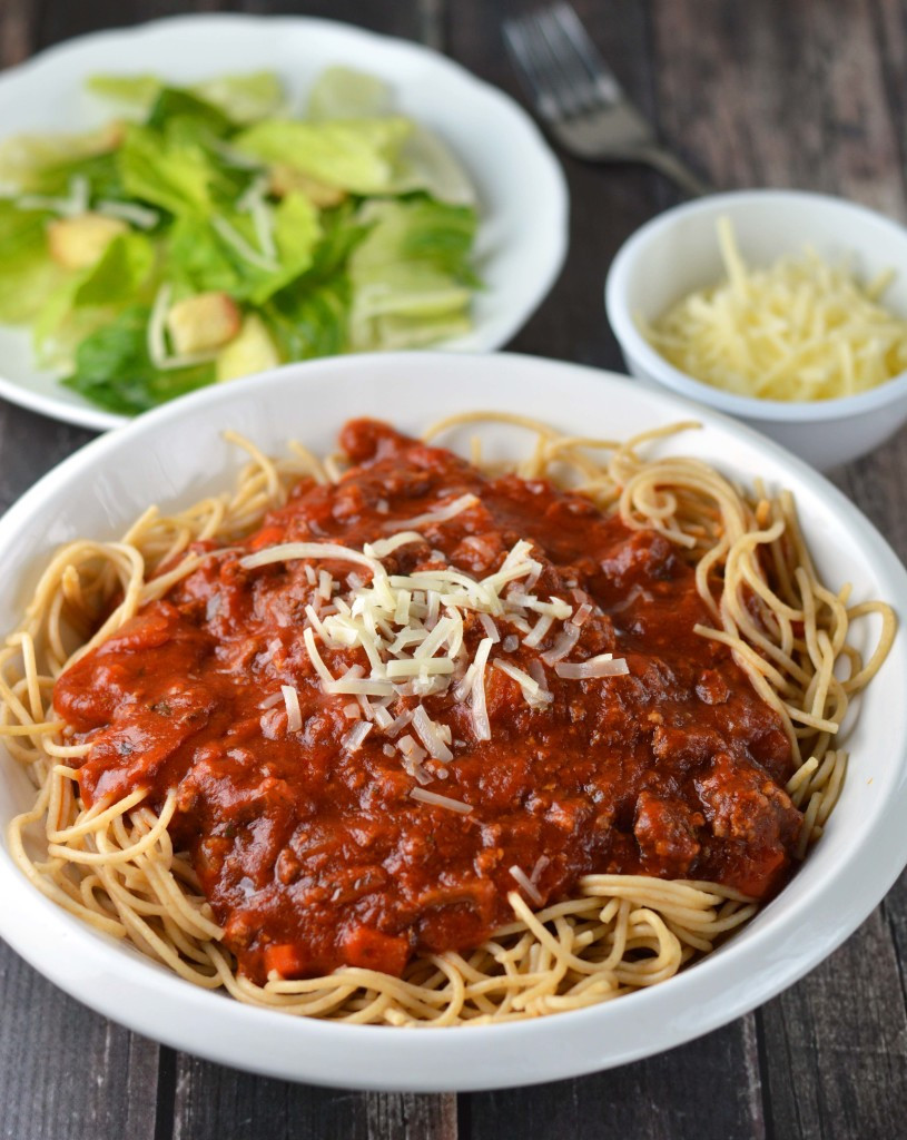 Slow Cooker Spaghetti Sauce  Slow cooker spaghetti sauce Friday is Cake Night