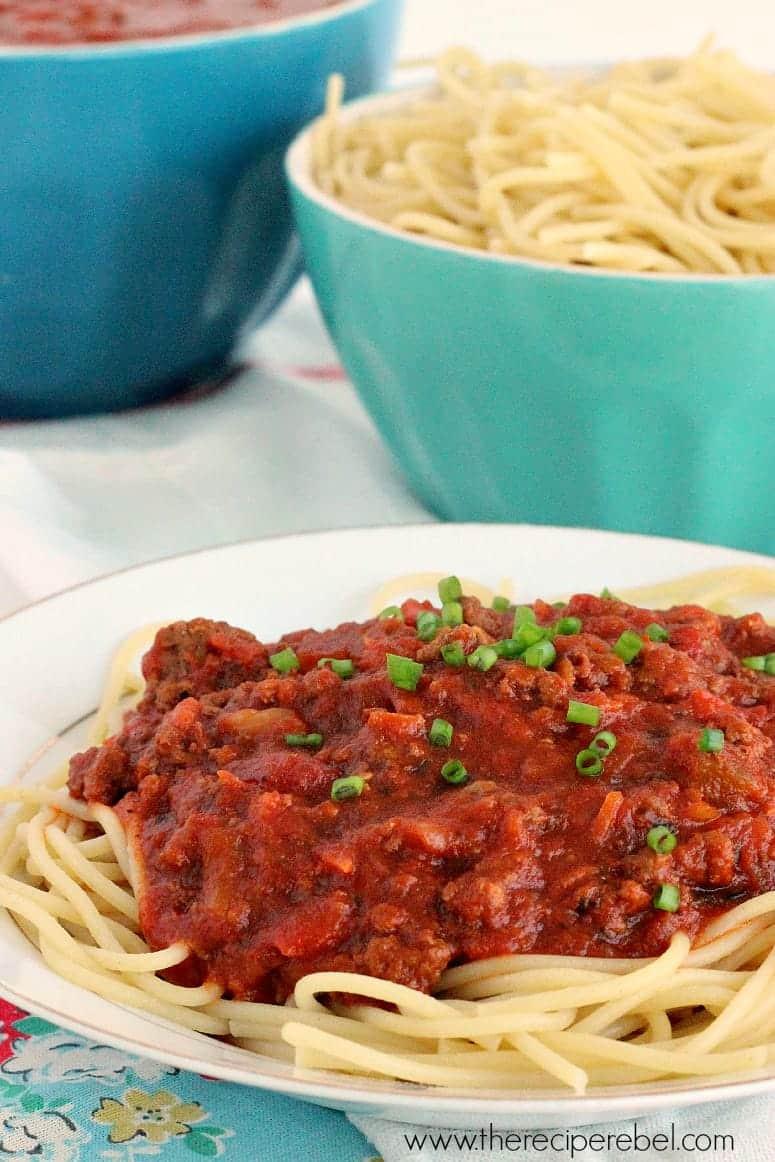 Slow Cooker Spaghetti Sauce  Slow Cooker Spaghetti Sauce The Recipe Rebel