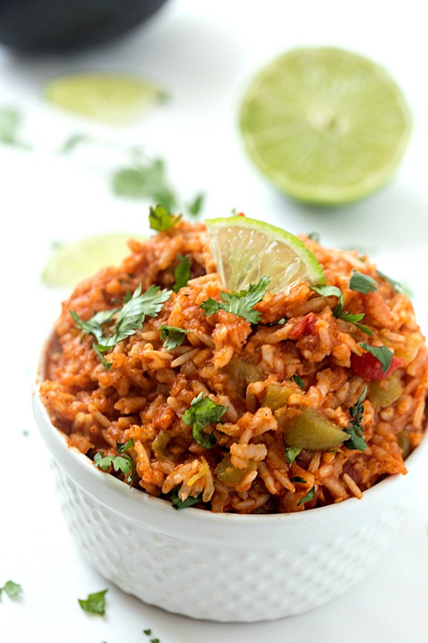 Slow Cooker Spanish Rice  Slow Cooker Mexican Rice Spanish Rice Gal on a Mission