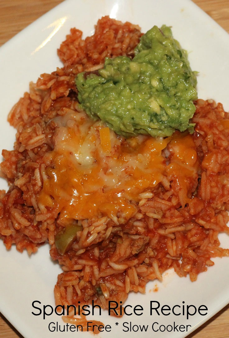 Slow Cooker Spanish Rice  Gluten free slow cooker recipe Spanish Rice