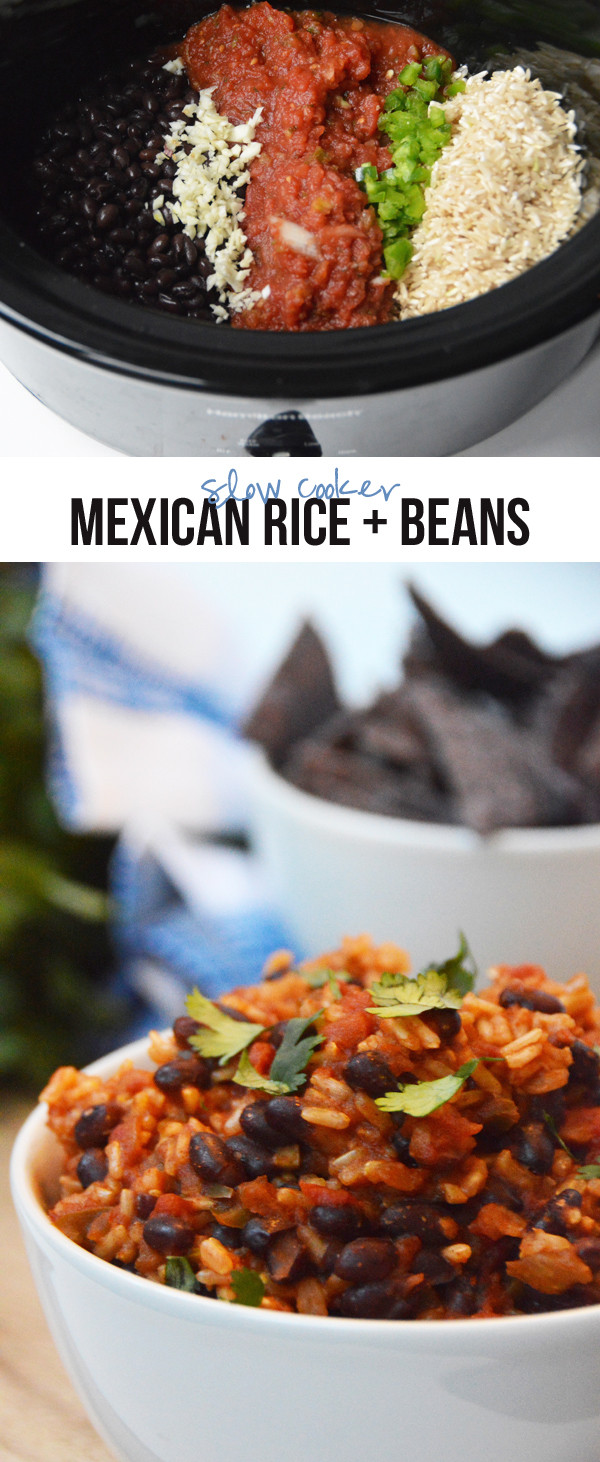 Slow Cooker Spanish Rice  Slow Cooker Mexican Rice & Beans