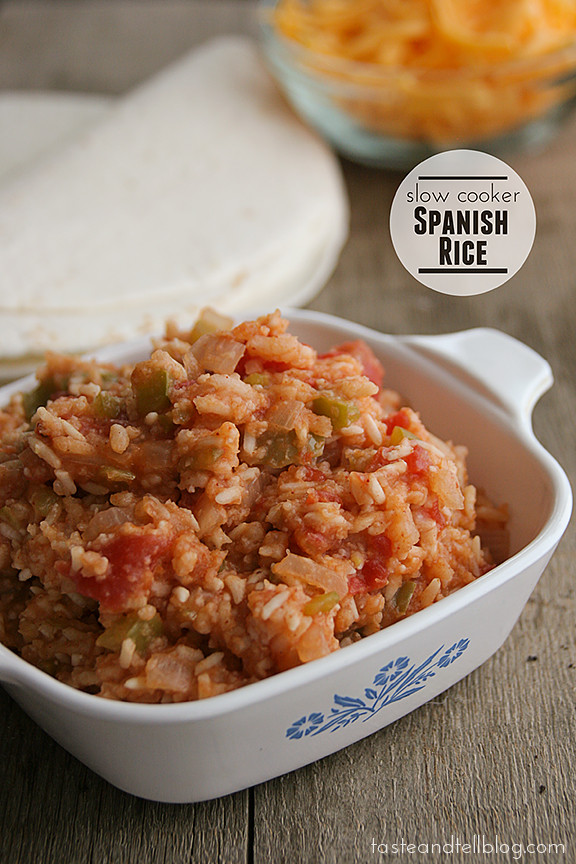 Slow Cooker Spanish Rice  Slow Cooker Spanish Rice Taste and Tell Thursdays
