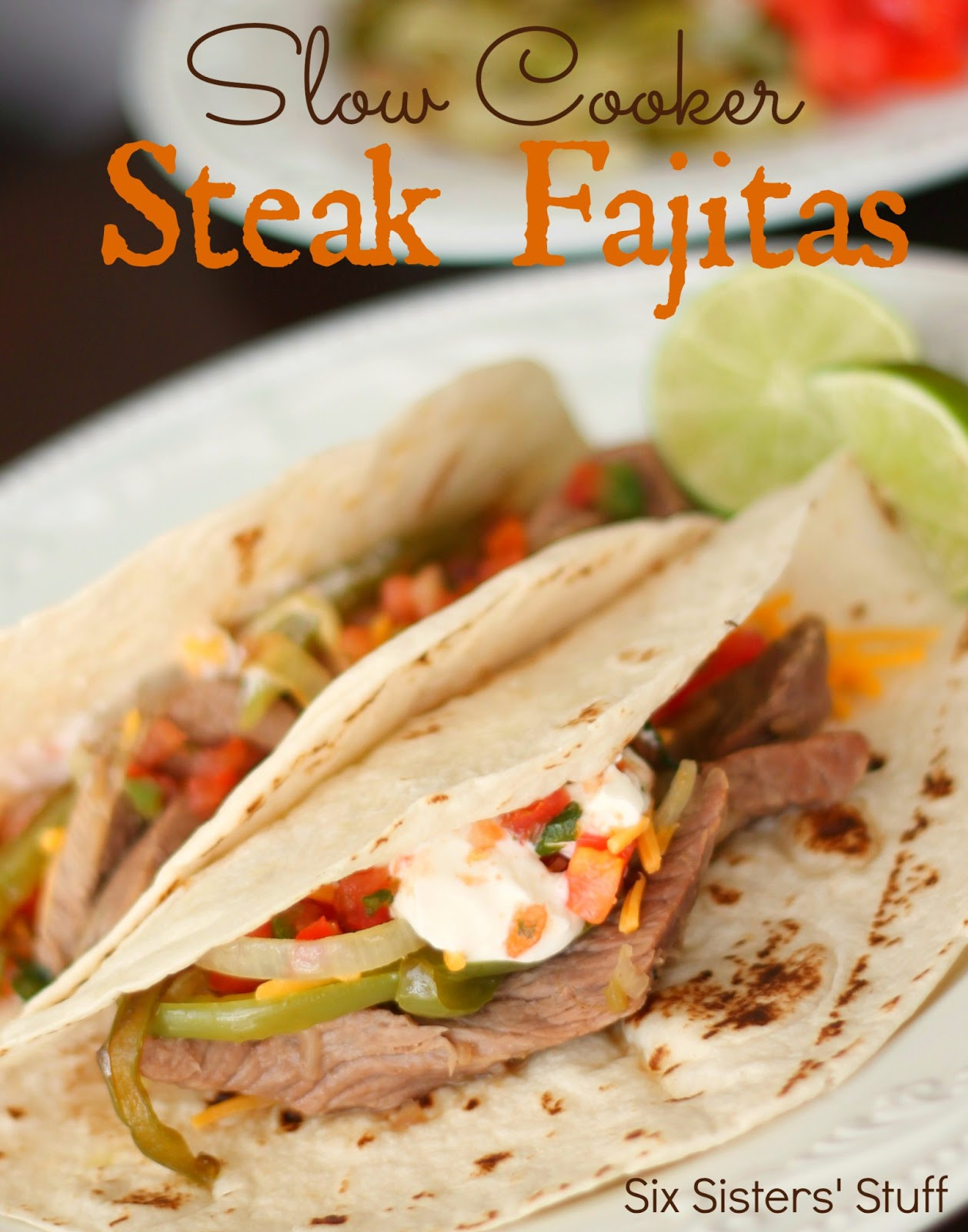 Slow Cooker Steak Fajitas  Slow Cooker Chili s Steak Fajitas Recipe