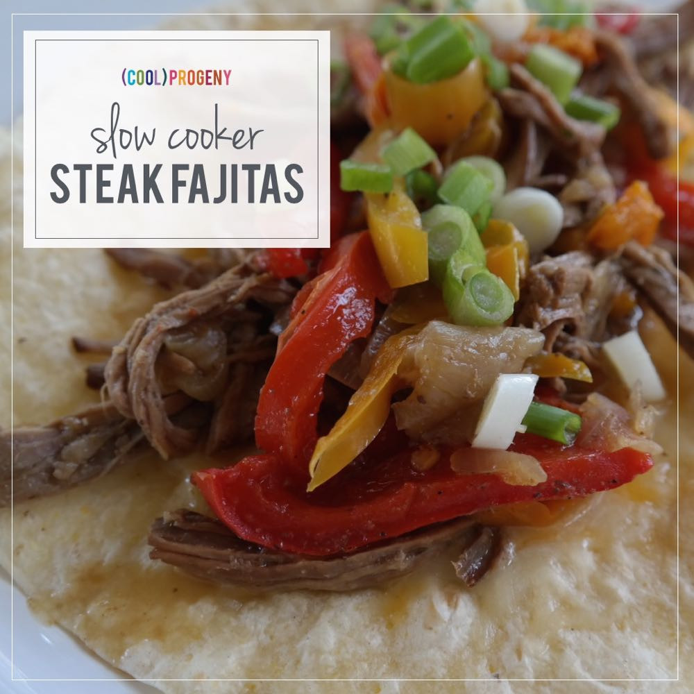 Slow Cooker Steak Fajitas  slow cooker steak fajitas cool progeny