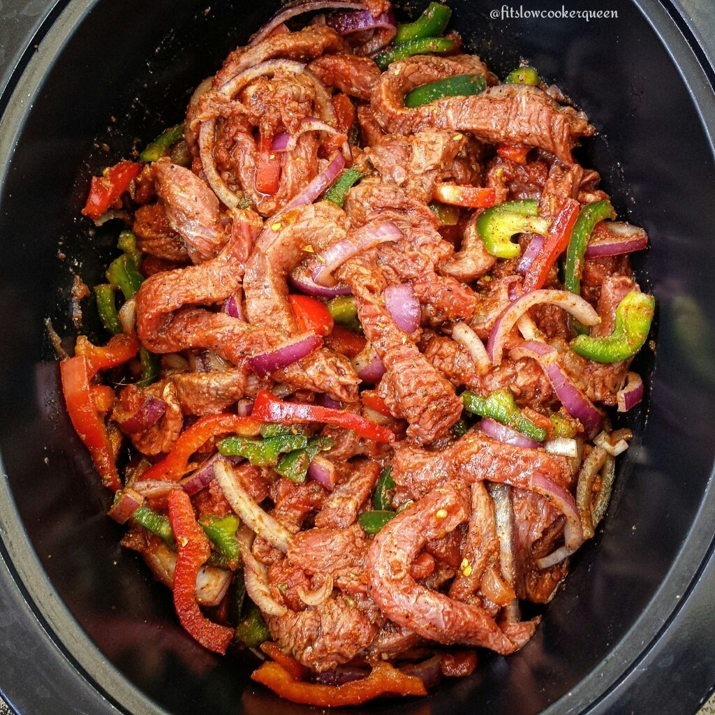 Slow Cooker Steak Fajitas  5 Ingre nt Slow Cooker Steak Fajitas Fit SlowCooker Queen