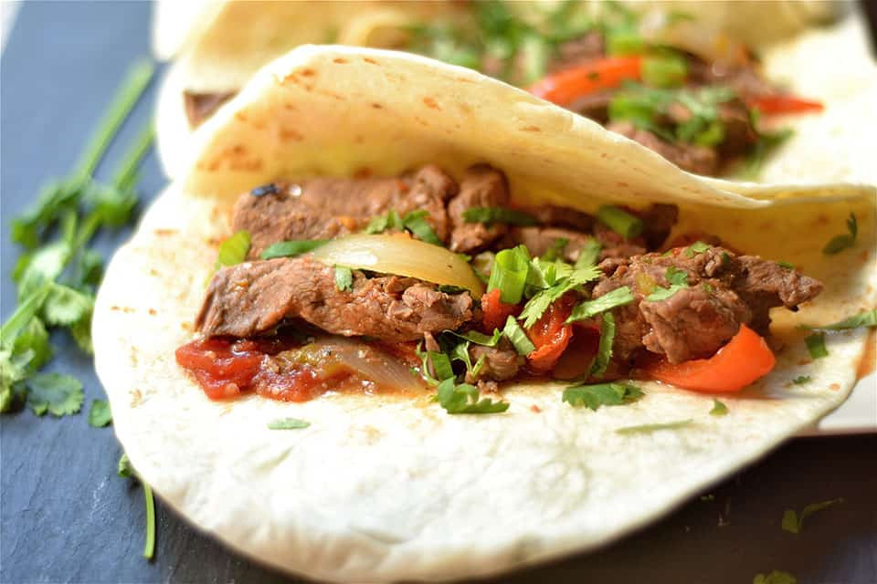 Slow Cooker Steak Fajitas  Slow Cooker Steak Fajitas Wholesomelicious