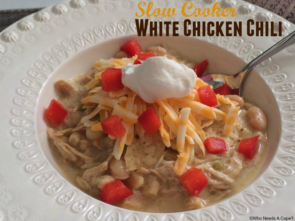 Slow Cooker White Chicken Chili  Slow Cooker White Chicken Chili