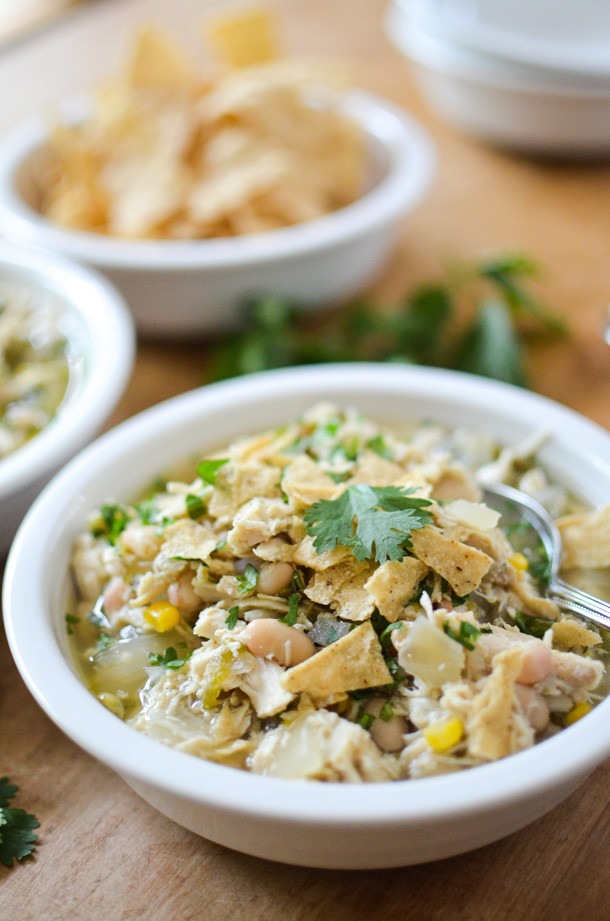 Slow Cooker White Chicken Chili  Slow Cooker White Chicken Chili Simply Whisked
