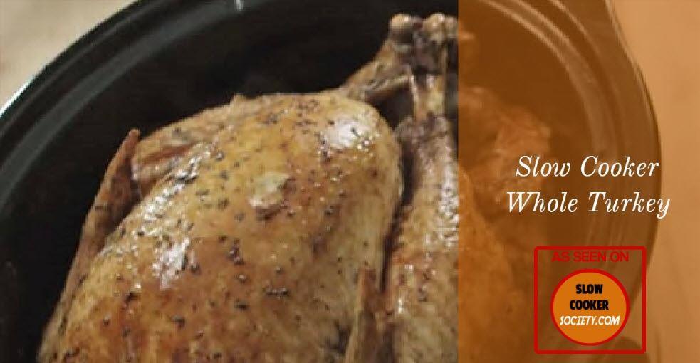 Slow Cooker Whole Turkey  Easy Slow Cooker Whole Turkey Recipe