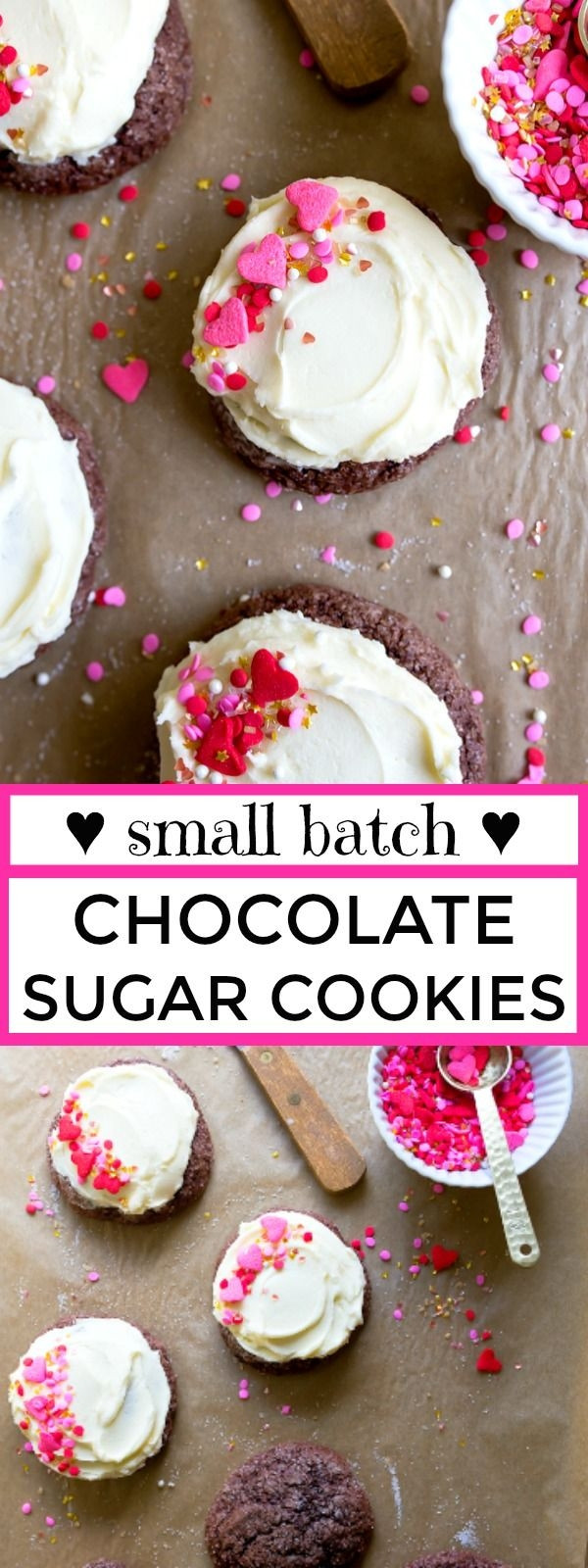 Small Batch Sugar Cookies  Small batch cookies chocolate sugar cookies with frosting
