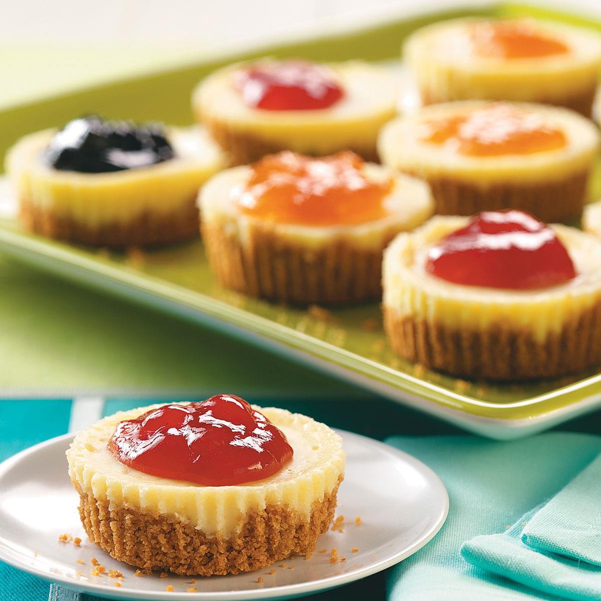Small Cheesecake Recipe  Jam Topped Mini Cheesecakes Recipe