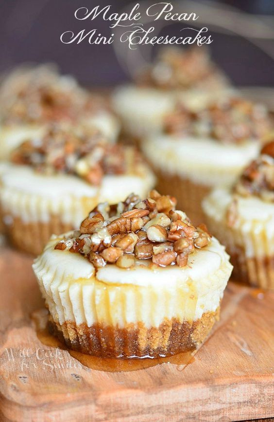 Small Cheesecake Recipe  Mini cheesecakes Pecans and Cheesecake on Pinterest