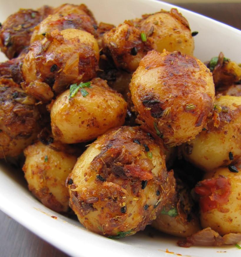 Small Potato Recipes  Super Yummy Recipes Achari Aloo Spicy Pickled Baby Potatoes