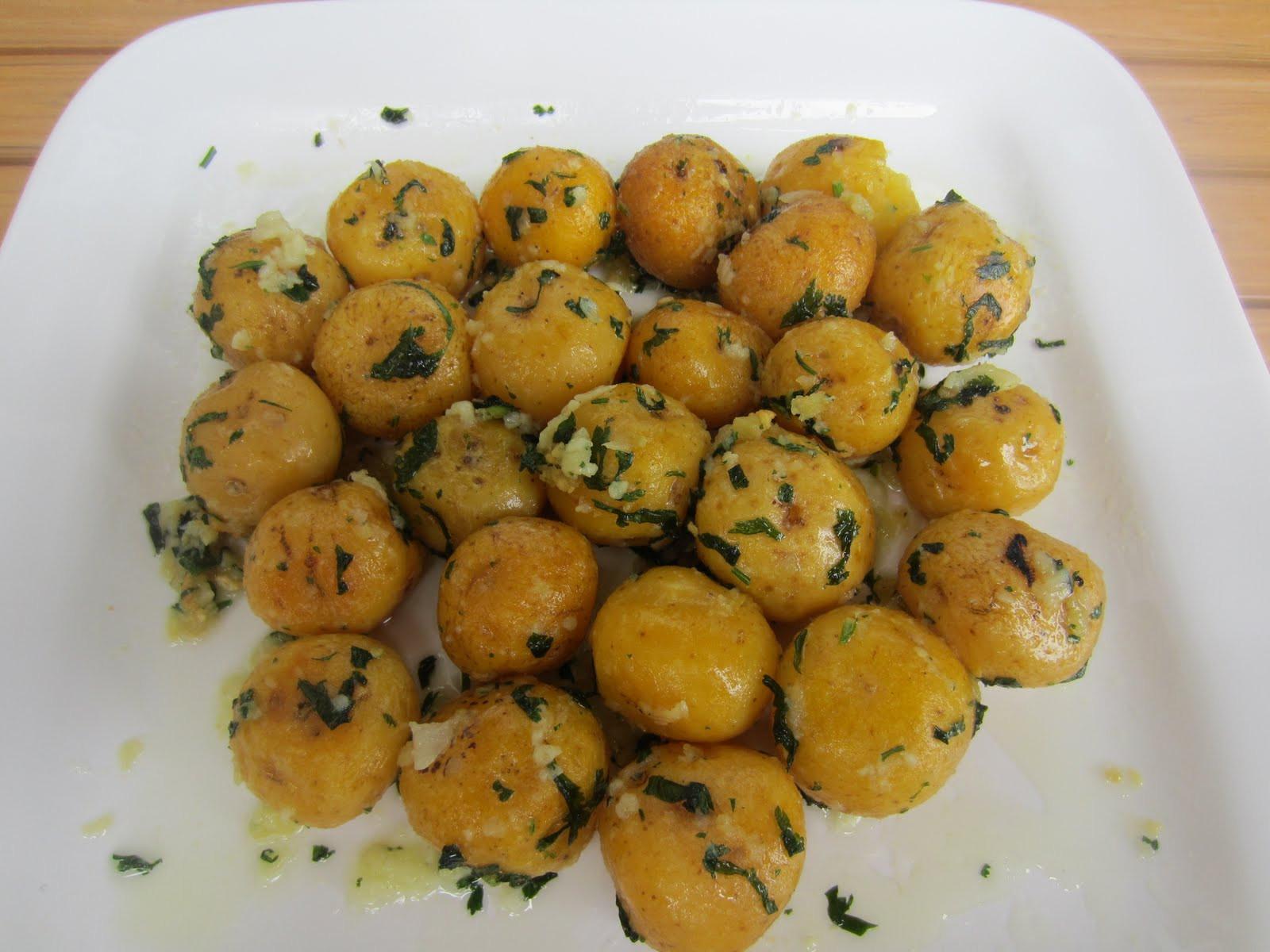 Small Potato Recipes  Luca Garlic and Cilantro Small Potatoes