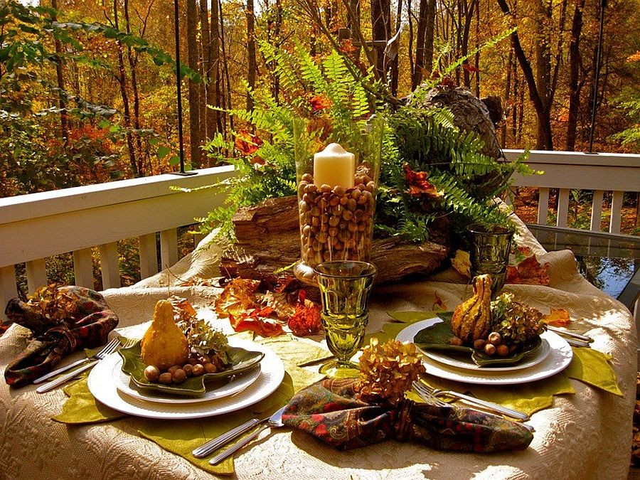 Small Thanksgiving Dinner  15 Outdoor Thanksgiving Table Settings for Dining Alfresco