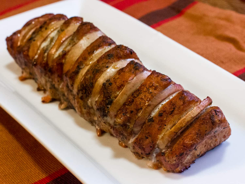 Smoked Pork Loin  Smoked Pork Loin with Apples Recipe