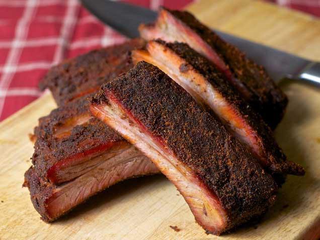 Smoked Pork Ribs  smoked pork ribs dry rub recipe