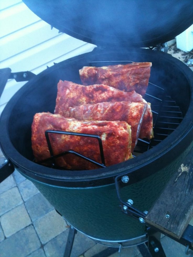 Smoked Pork Ribs  17 Best images about BIG GREEN EGG on Pinterest