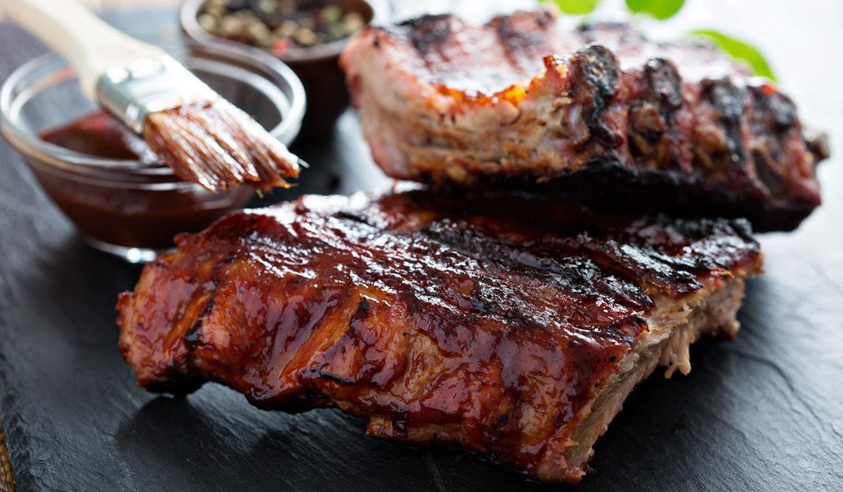 Smoked Pork Ribs  Slow Smoked Pork Spareribs Recipe — Dishmaps