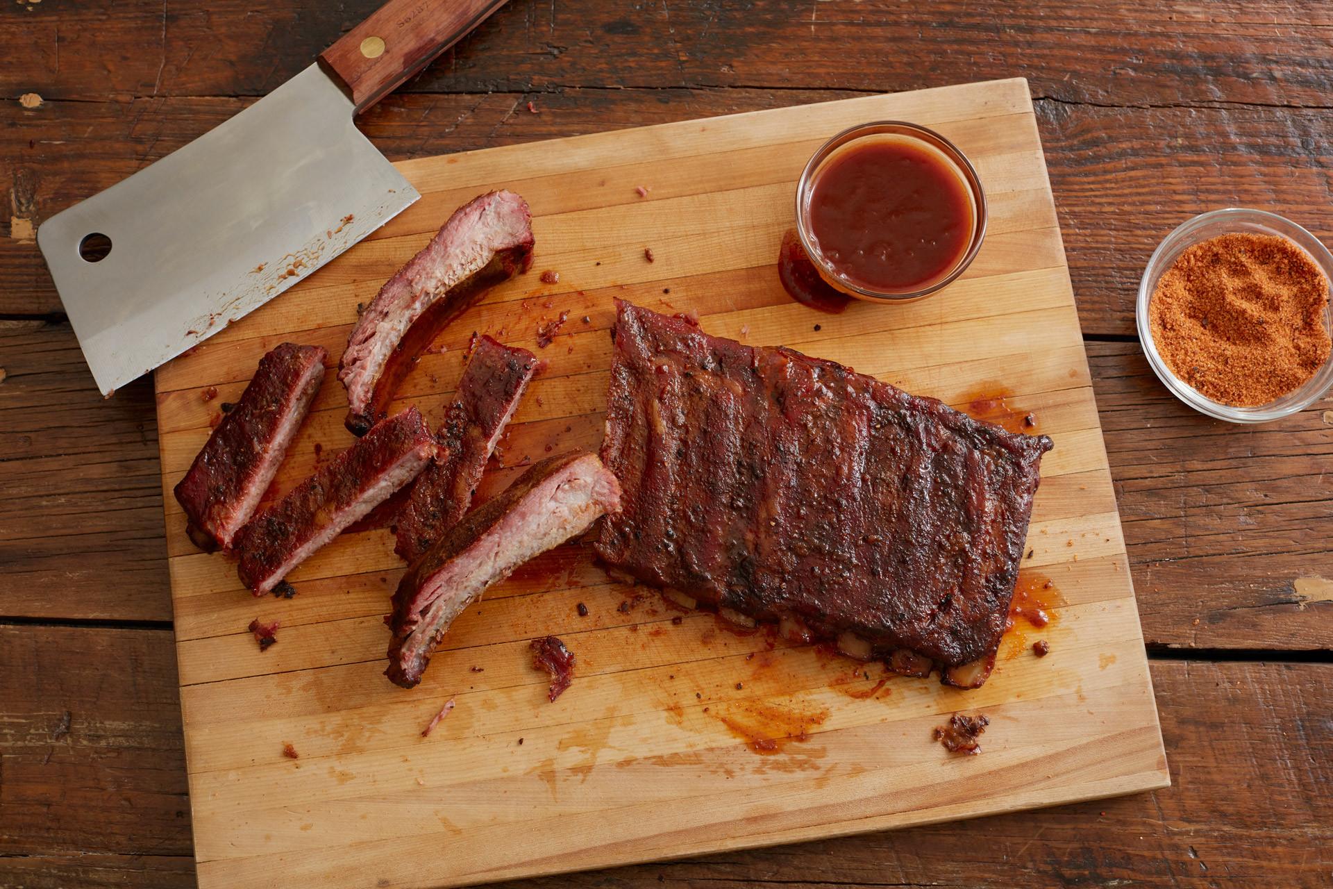 Smoked Pork Ribs  Twist d Q™ Sweet Heat Rib Rub Prize Winning Rub