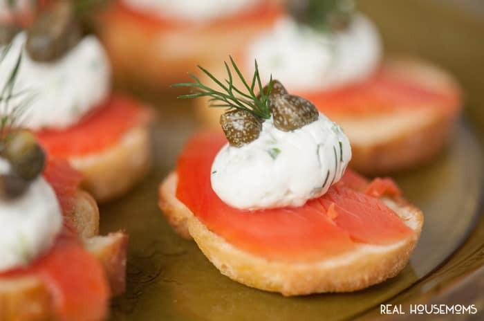 Smoked Salmon Appetizer  Smoked Salmon Crostini ⋆ Real Housemoms
