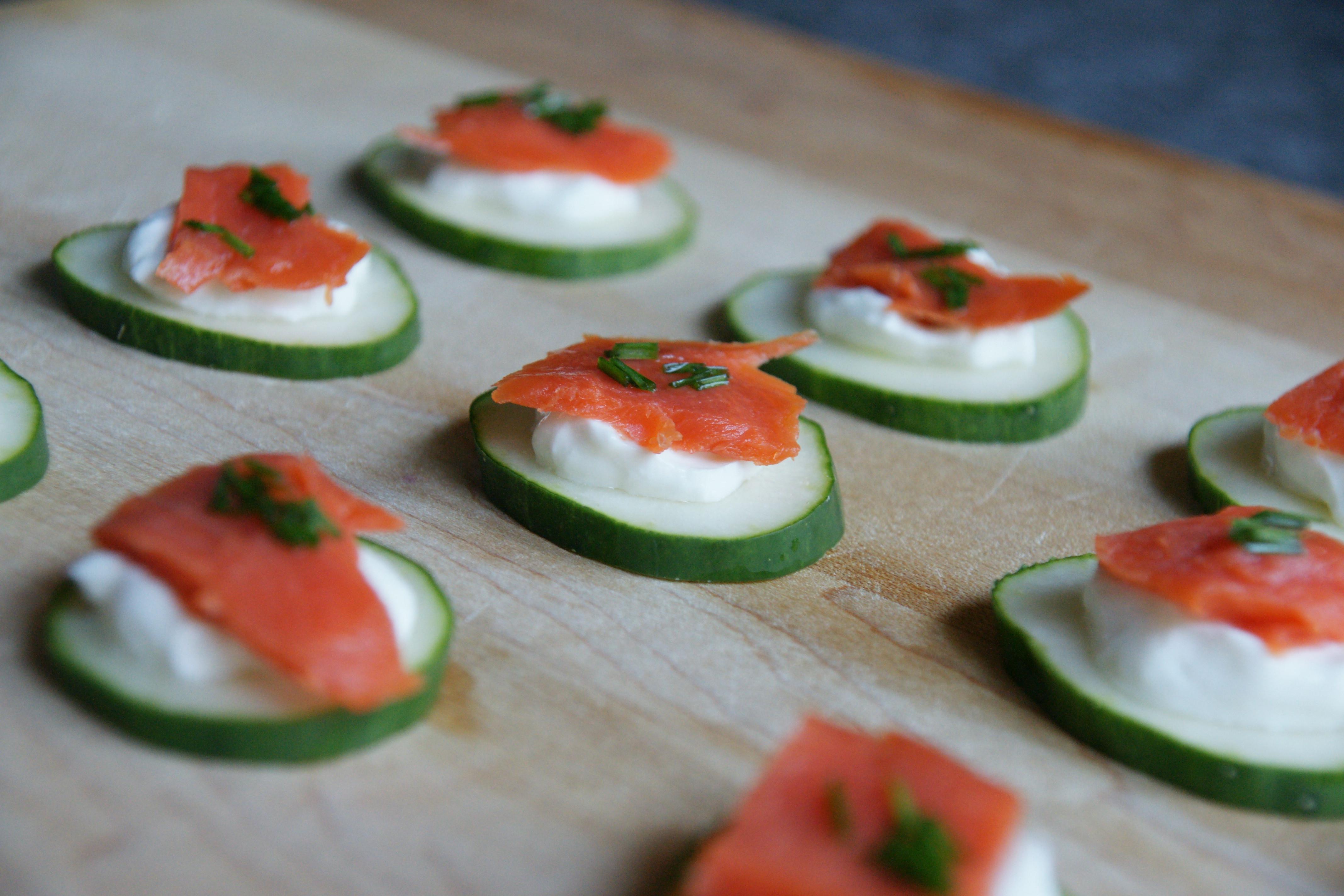 Smoked Salmon Appetizer  smoked salmon cucumbers
