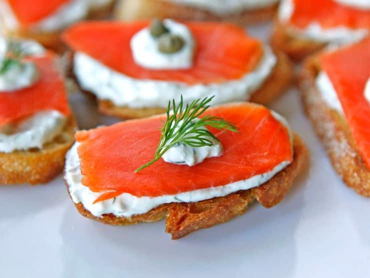 Smoked Salmon Appetizer  Smoked Salmon Crostini Easy Lox Appetizer Recipe