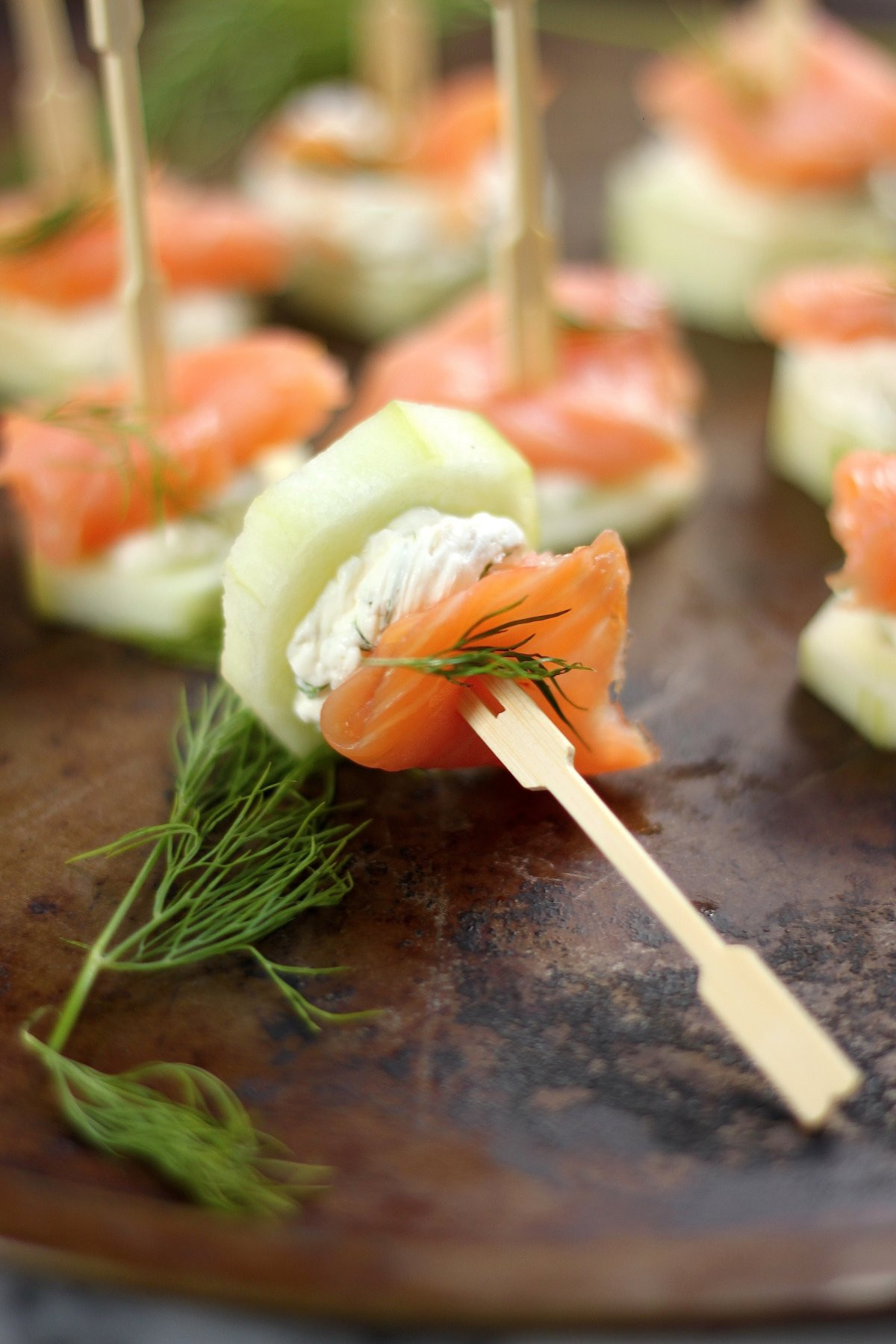 Smoked Salmon Appetizer  Smoked Salmon and Cream Cheese Cucumber Bites Baker by
