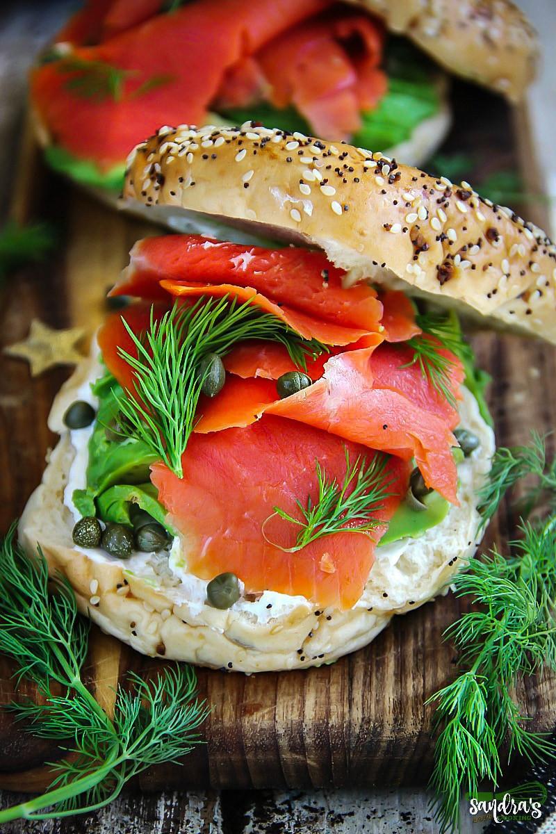 Smoked Salmon Bagel  Smoked Salmon Bagel Sandwiches Sandra s Easy Cooking
