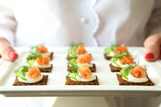 Smoked Salmon Canapes  Goat Cheese Mousse and Smoked Salmon Canapés