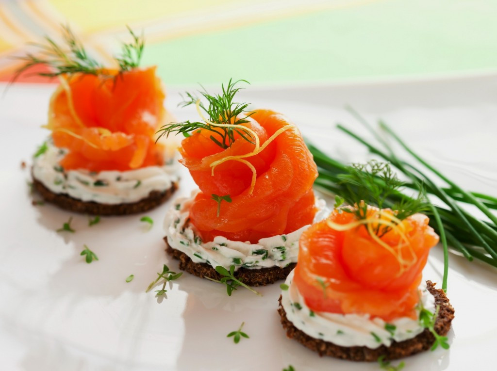 Smoked Salmon Canapes  Cream Cheese Smoked Salmon Appetizer – Good Healthy