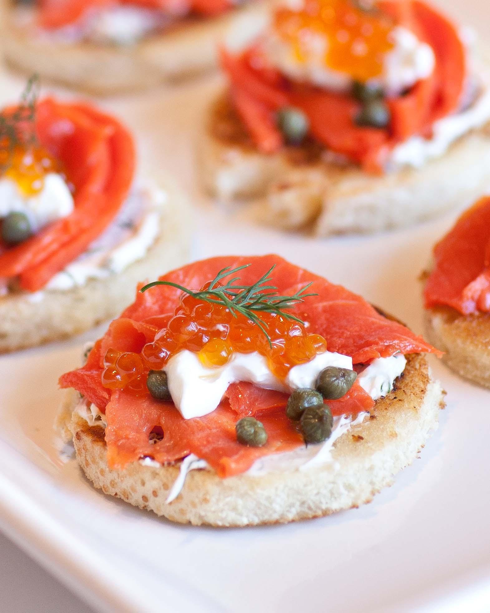 Smoked Salmon Canapes  Caviar & Smoked Salmon Canapes Tatyanas Everyday Food