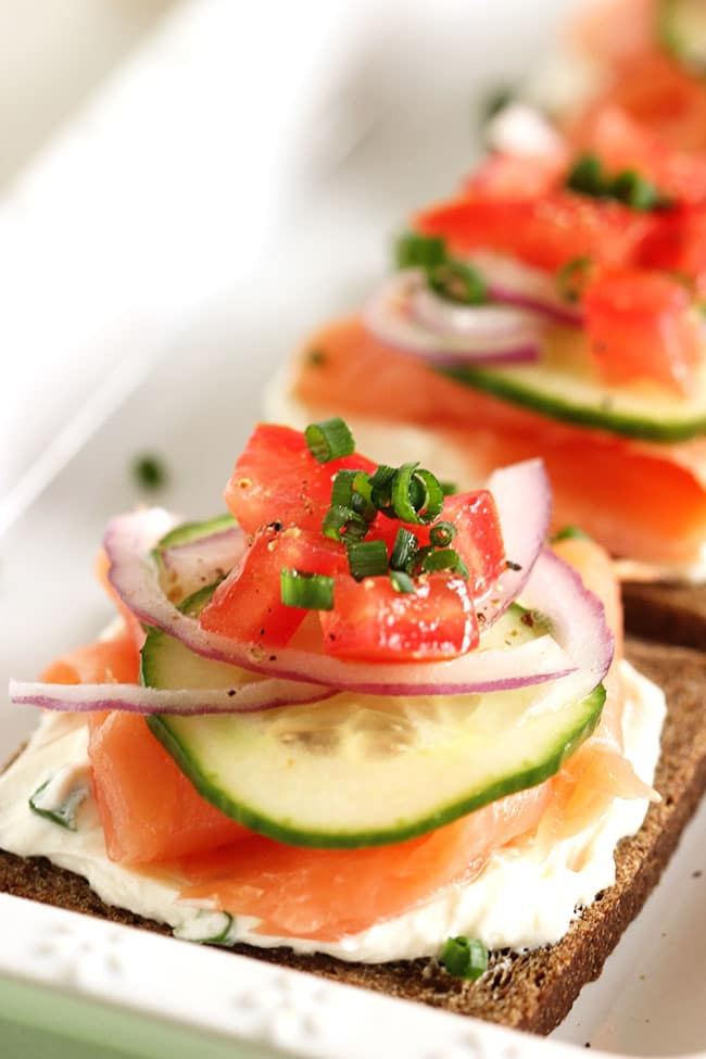 Smoked Salmon Canapes  The Top 20 Healthy Recipes of All Time The Suburban Soapbox