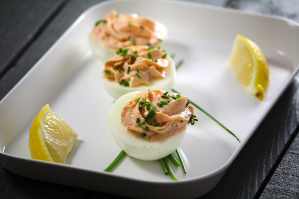 Smoked Salmon Deviled Eggs  IMG 2873 1024x682