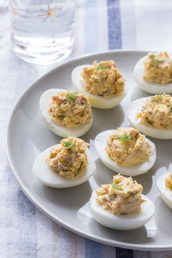 Smoked Salmon Deviled Eggs  Katie Brown