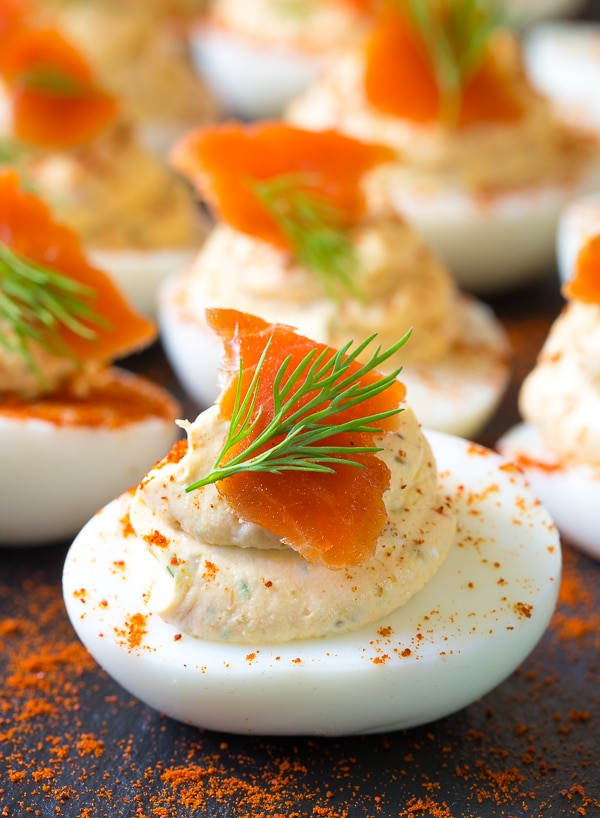 Smoked Salmon Deviled Eggs  15 Deviled Egg Recipes for Spring A Spicy Perspective