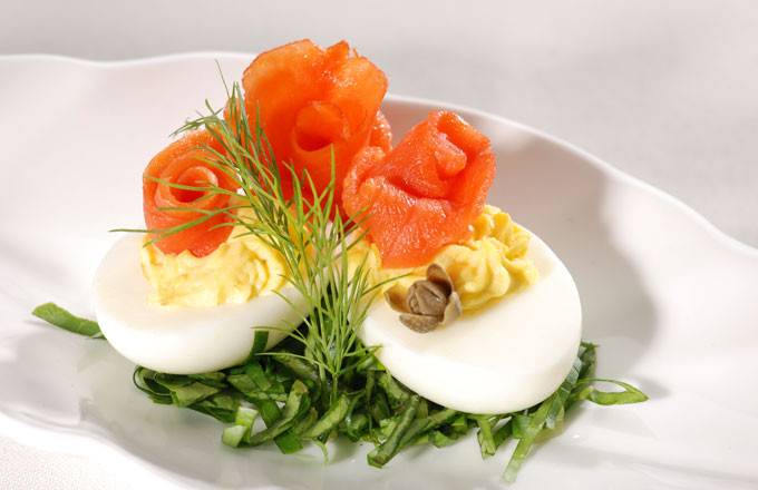 Smoked Salmon Deviled Eggs  Smoked Salmon Deviled Eggs Recipe — Dishmaps
