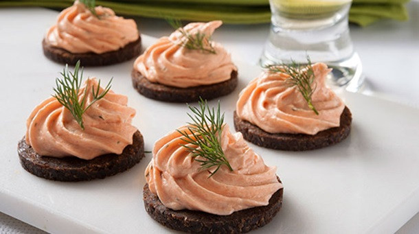 Smoked Salmon Mousse  Smoked Salmon Mousse Canapes