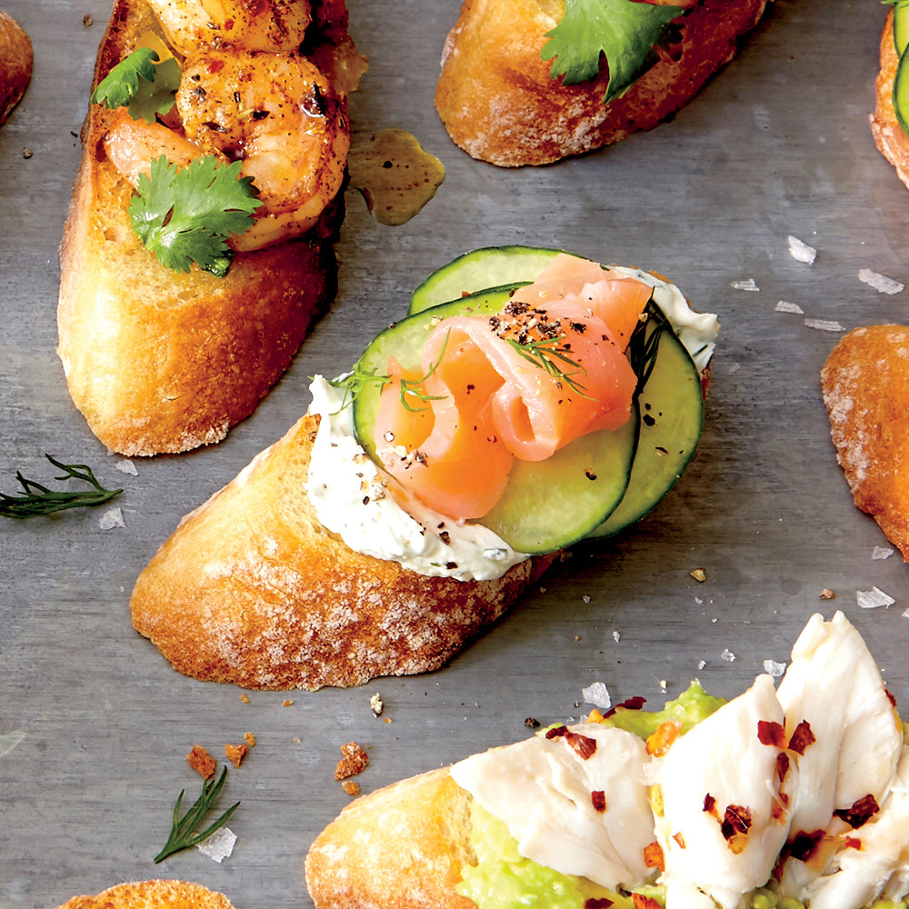 Smoked Salmon Recipes Appetizers  Crostini with Cucumber Smoked Salmon and Dill Recipe