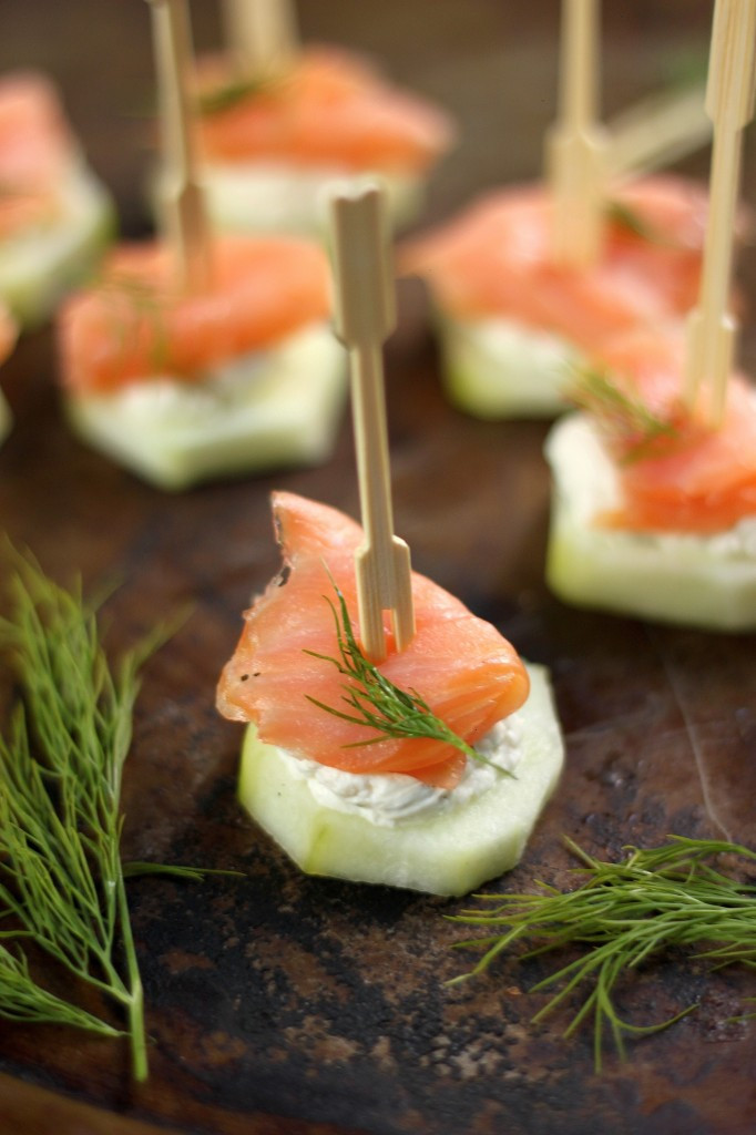 Smoked Salmon Recipes Appetizers  Smoked Salmon and Cream Cheese Cucumber Bites Baker by