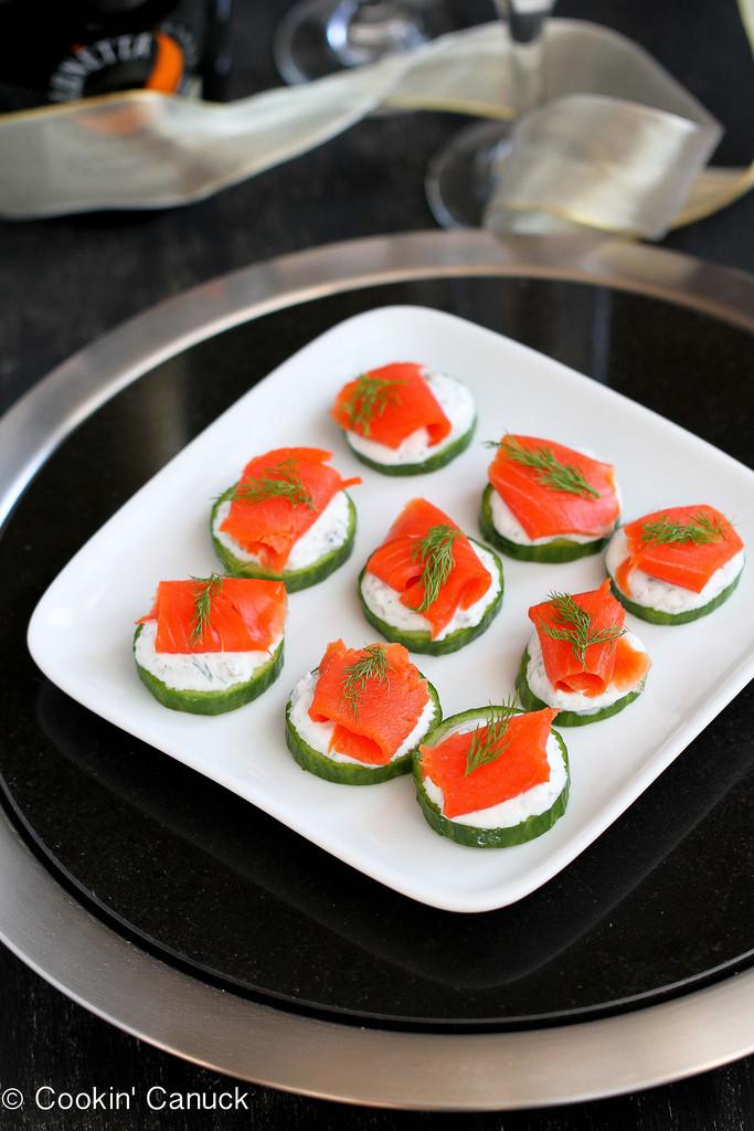Smoked Salmon Recipes Appetizers  Smoked Salmon & Cucumber Appetizer Recipe w Caper Yogurt