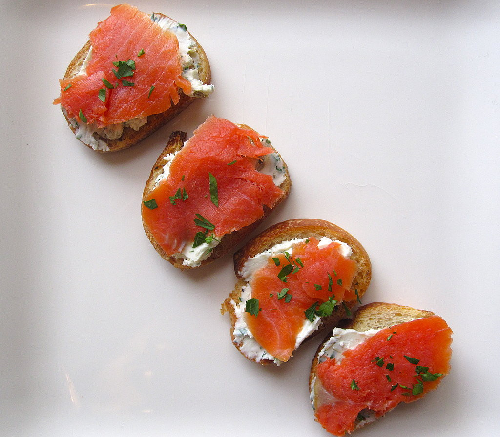 Smoked Salmon Recipes Appetizers  Easy Smoked Salmon and Goat Cheese Crostini Recipe