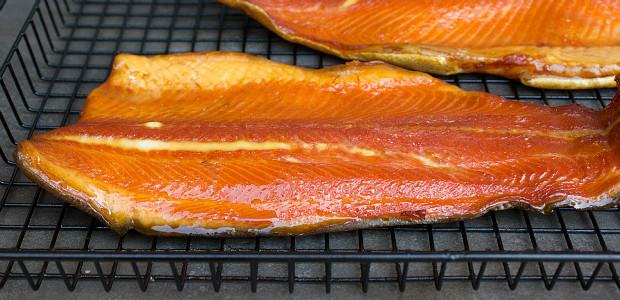 Smoked Salmon Rub  Smoked Rainbow Trout Fish smoked in the Bradley Smoker